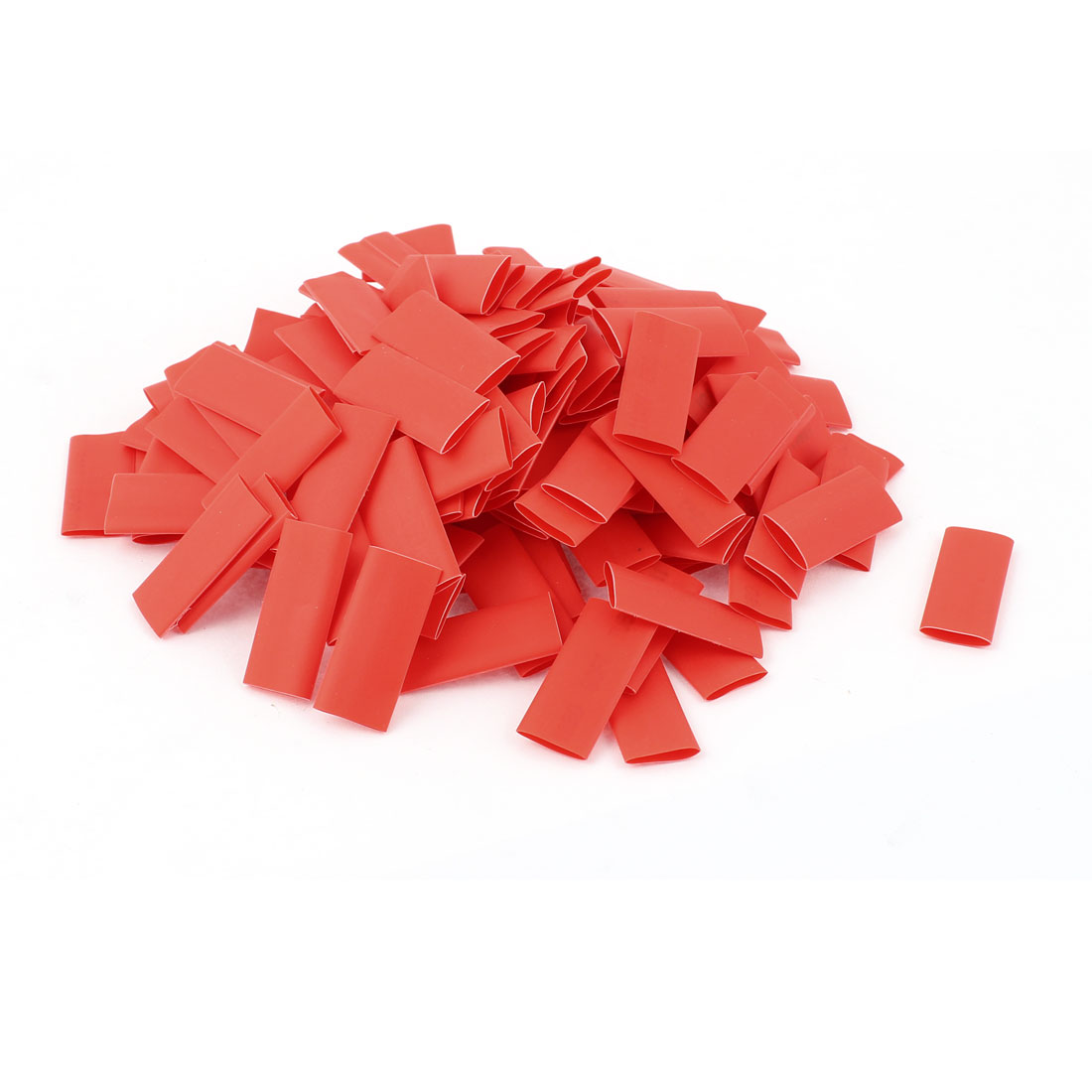 150pcs 8mm Dia 30mm Long Polyolefin 2:1 Heat Shrink Tubing Wire Wrap Sleeve Red