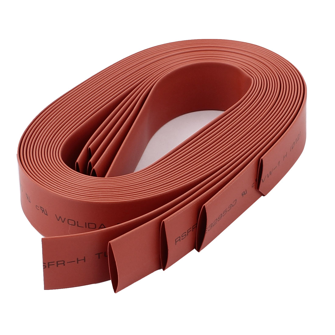 5pcs 12mm Dia 1M Polyolefin 2:1 Heat Shrink Tubing Wire Wrap Cable Sleeve Red