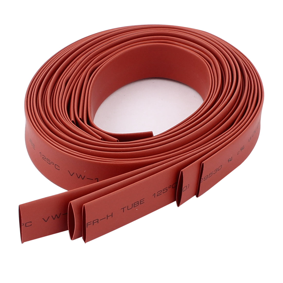 5pcs 10mm Dia 1M 2:1 Polyolefin Heat Shrink Tubing Wire Wrap Cable Sleeve Red