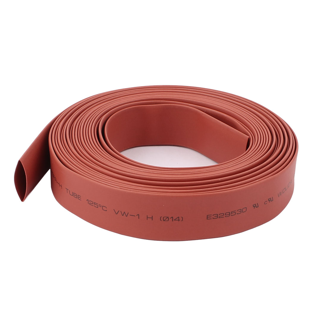 Red 14mm Dia Polyolefin 2:1 Heat Shrink Tubing Wire Wrap Cable Sleeve 6M 20Ft