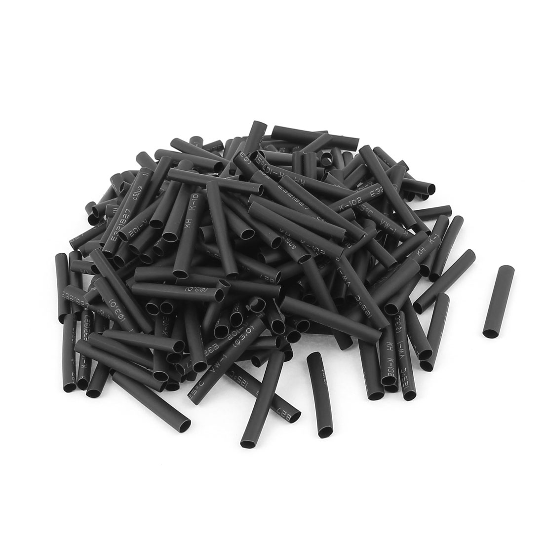 240pcs 3mm Dia 30mm Long Polyolefin Heat Shrink Tubing Wire Wrap Sleeve Black