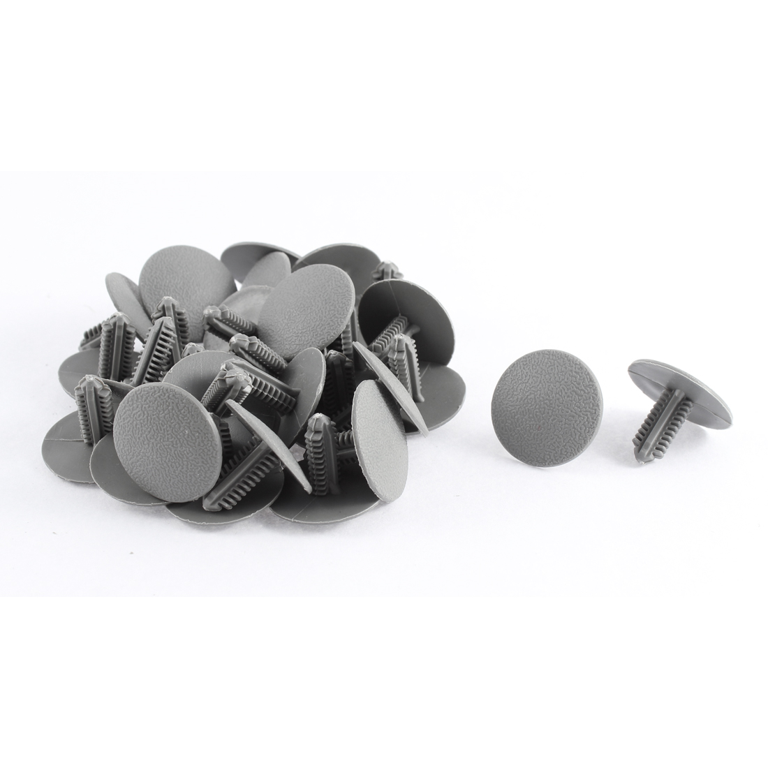30pcs 7.5mm Hole Dia Gray Car Auto Fairing Trim Plastic Screw Fit Rivet Clips