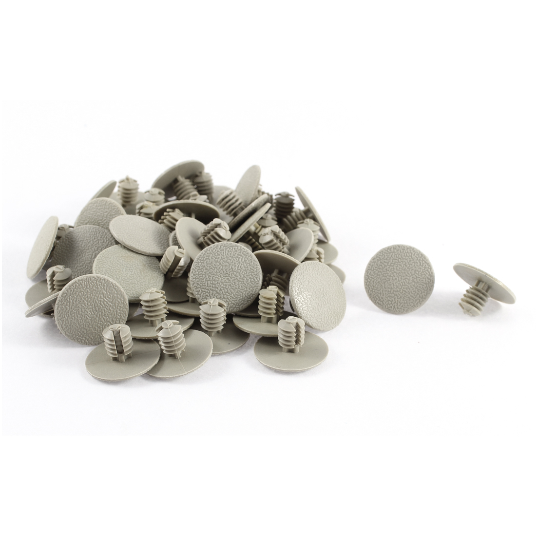 50 Pcs Gray Plastic Rivet Trim Fastener Retainer Clips 7mm Hole Dia