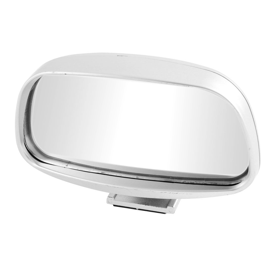 Car Universal Wide Angle Convex Blind Spot Side Rearview Mirror Sliver Tone