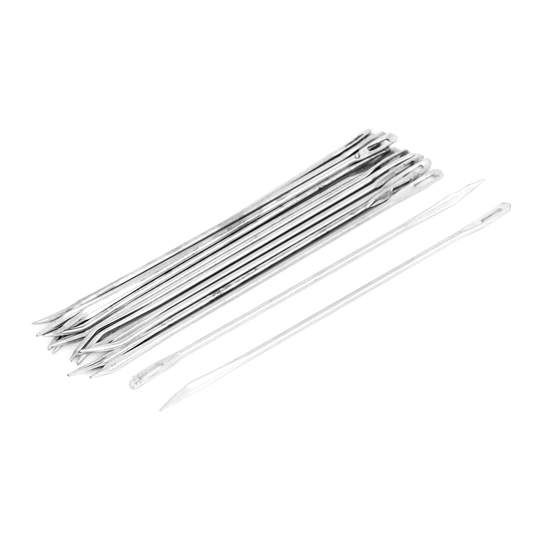 15Pcs Curved Head Upholstery Repair Metal Sewing Needles for Canvas Leather