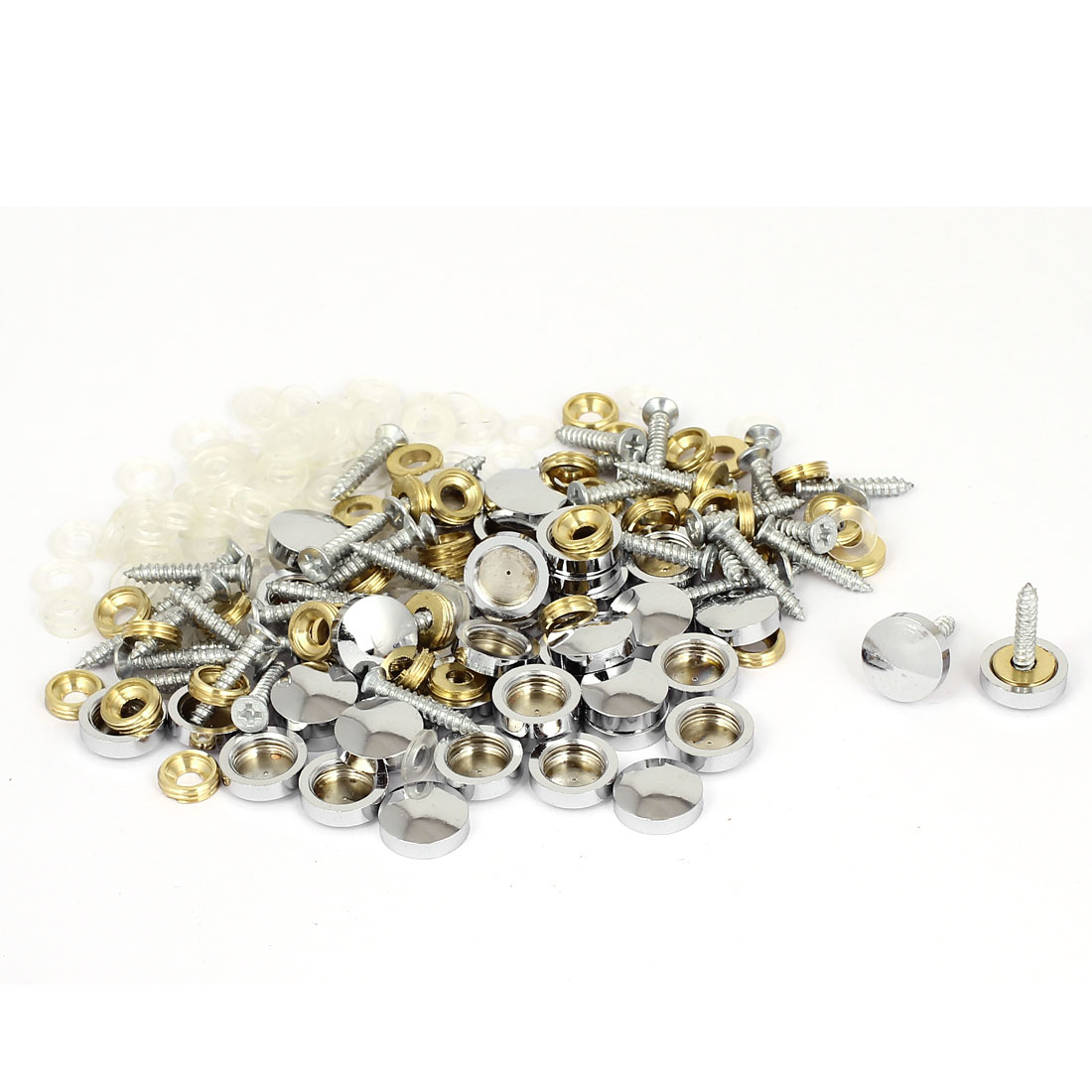 Wardrobes Mirror Decorative Round Cap Screw Nails 14mm Diameter 20 Sets