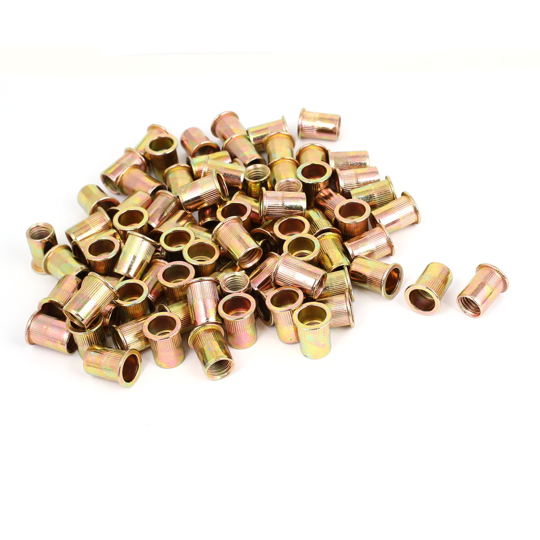100 Pcs M12x22mm Flat Head Blind Rivet Nut Insert Nutsert Fasteners