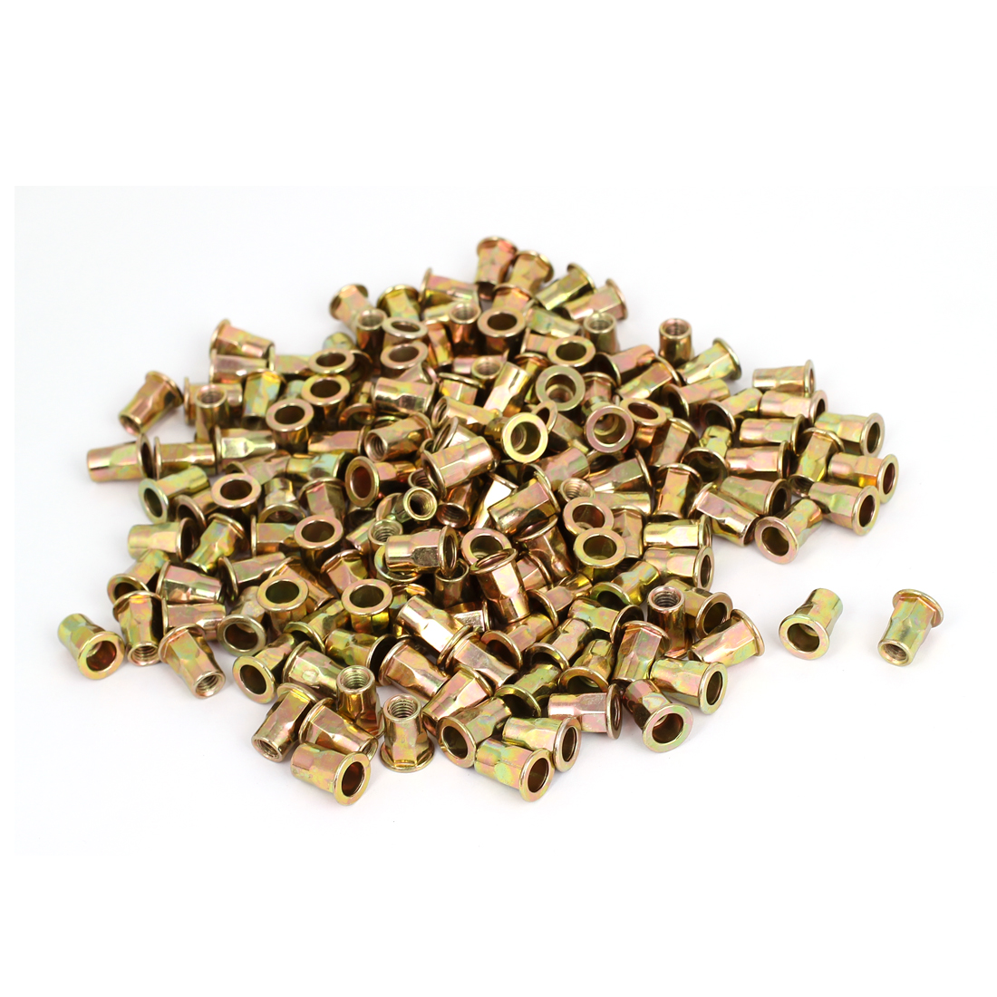 300pcs M6 Countersunk Head Half Hex Body Insert Rivets Nuts Nutserts Fasteners