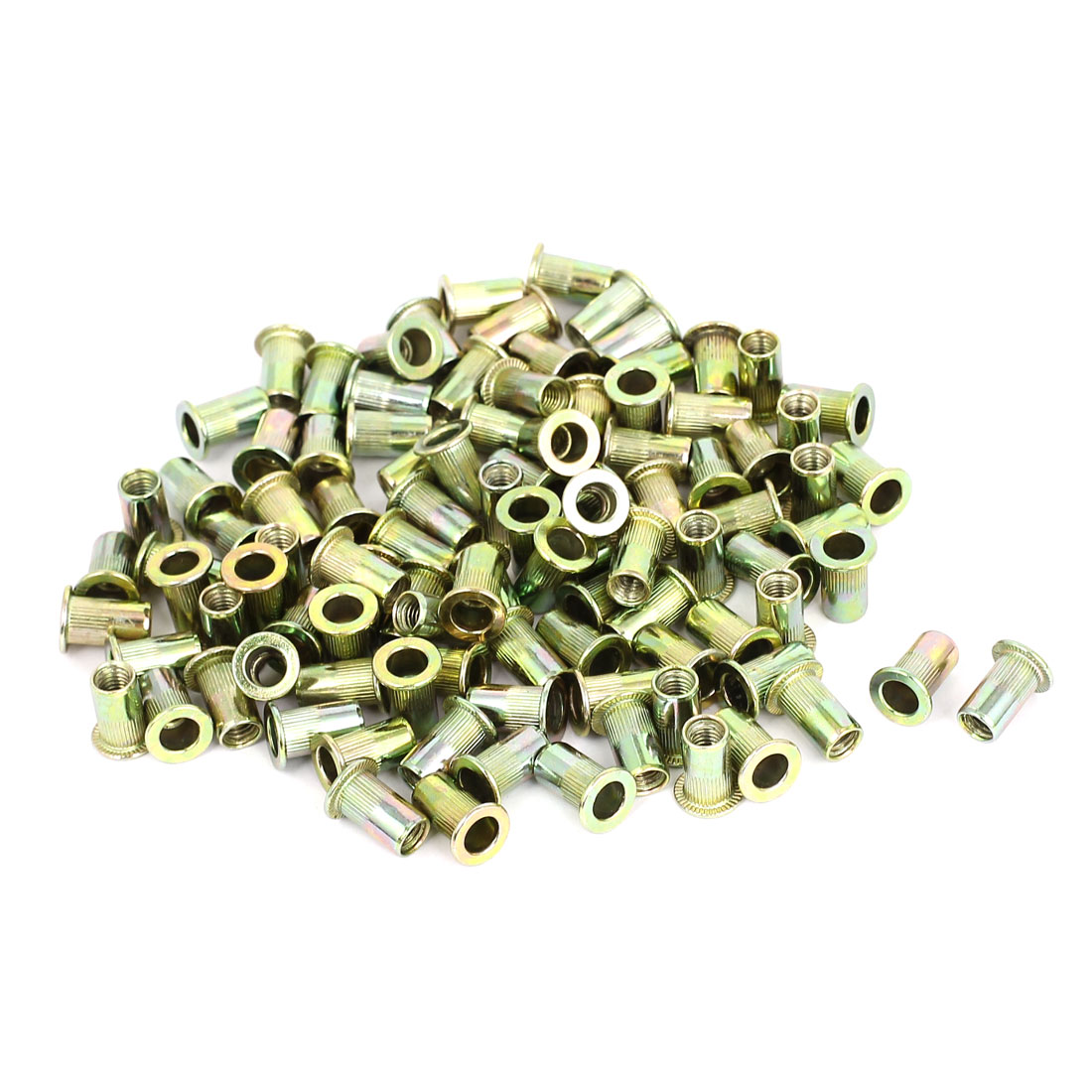 100 Pcs M5 Threaded Countersunk Head Knurled Blind Rivet Nuts Nutserts
