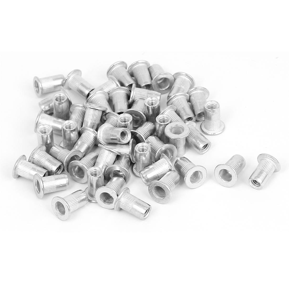 50 Pcs M4x11mm Aluminium Countersunk Head Blind Rivet Nuts Nutserts