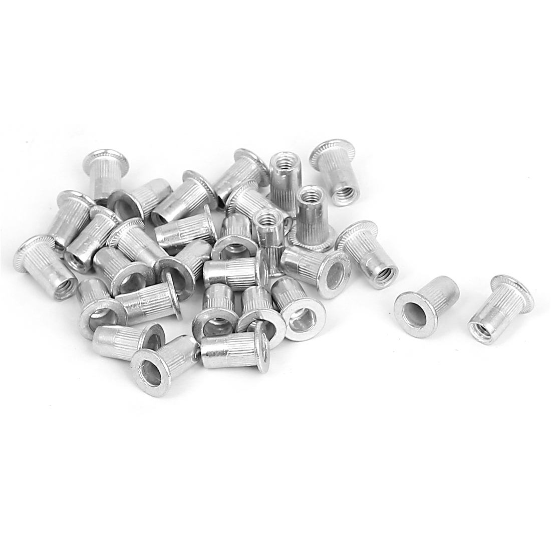 30 Pcs M4 Aluminum Countersunk Head Blind Nuts Open End Insert Nutserts