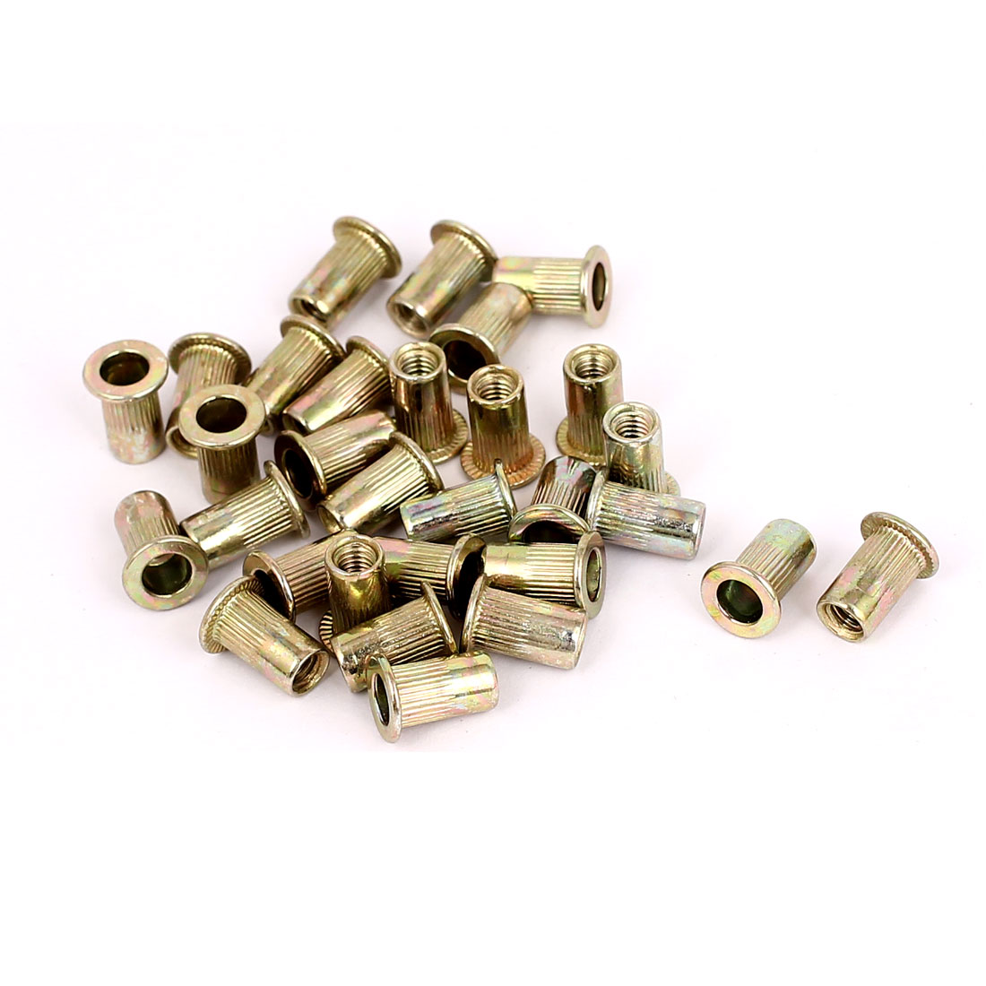 30pcs M4x11mm Carbon Steel Countersunk Head Blind Rivet Nut Nutserts