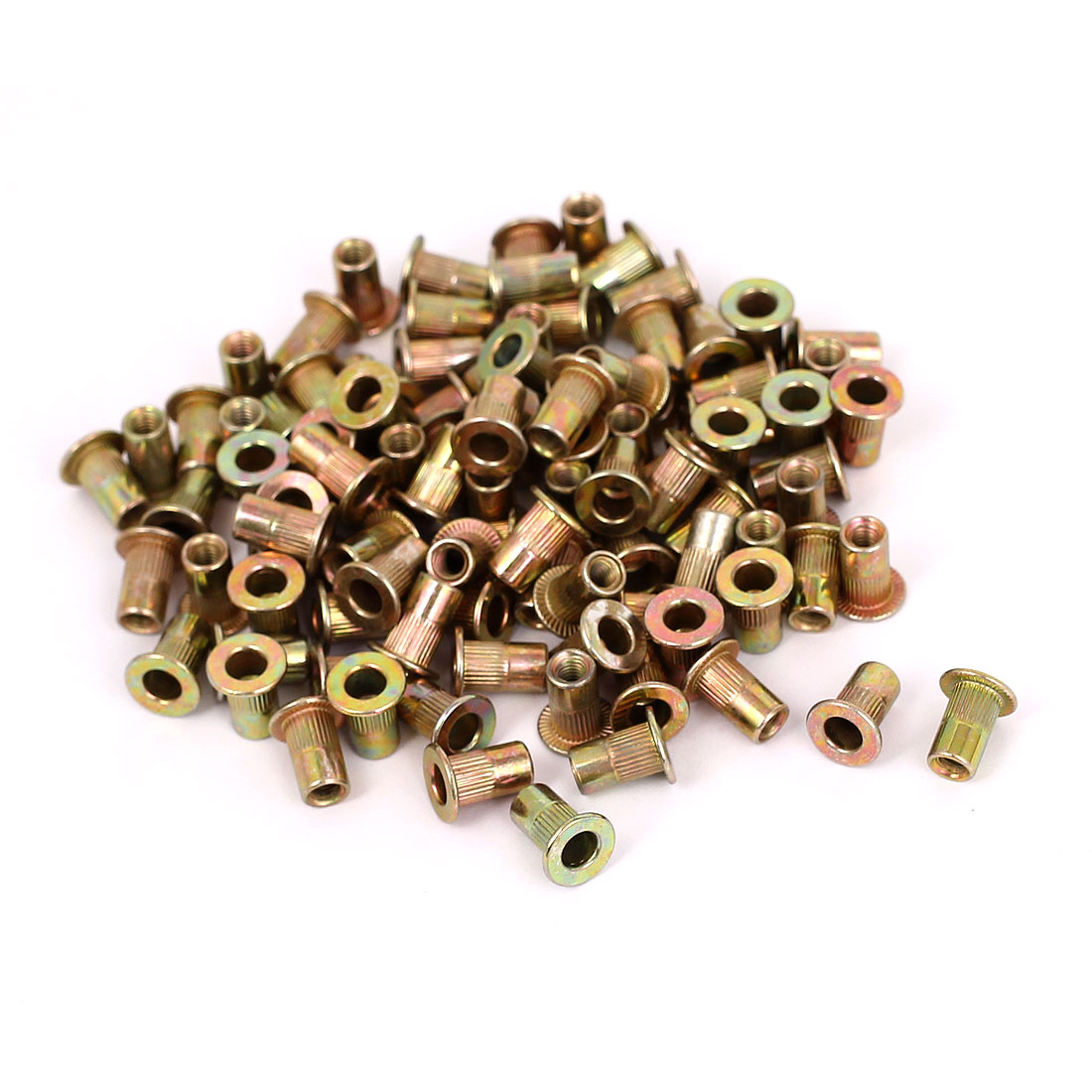 100pcs M3x9mm Carbon Steel Countersunk Head Blind Rivet Nuts Nutserts