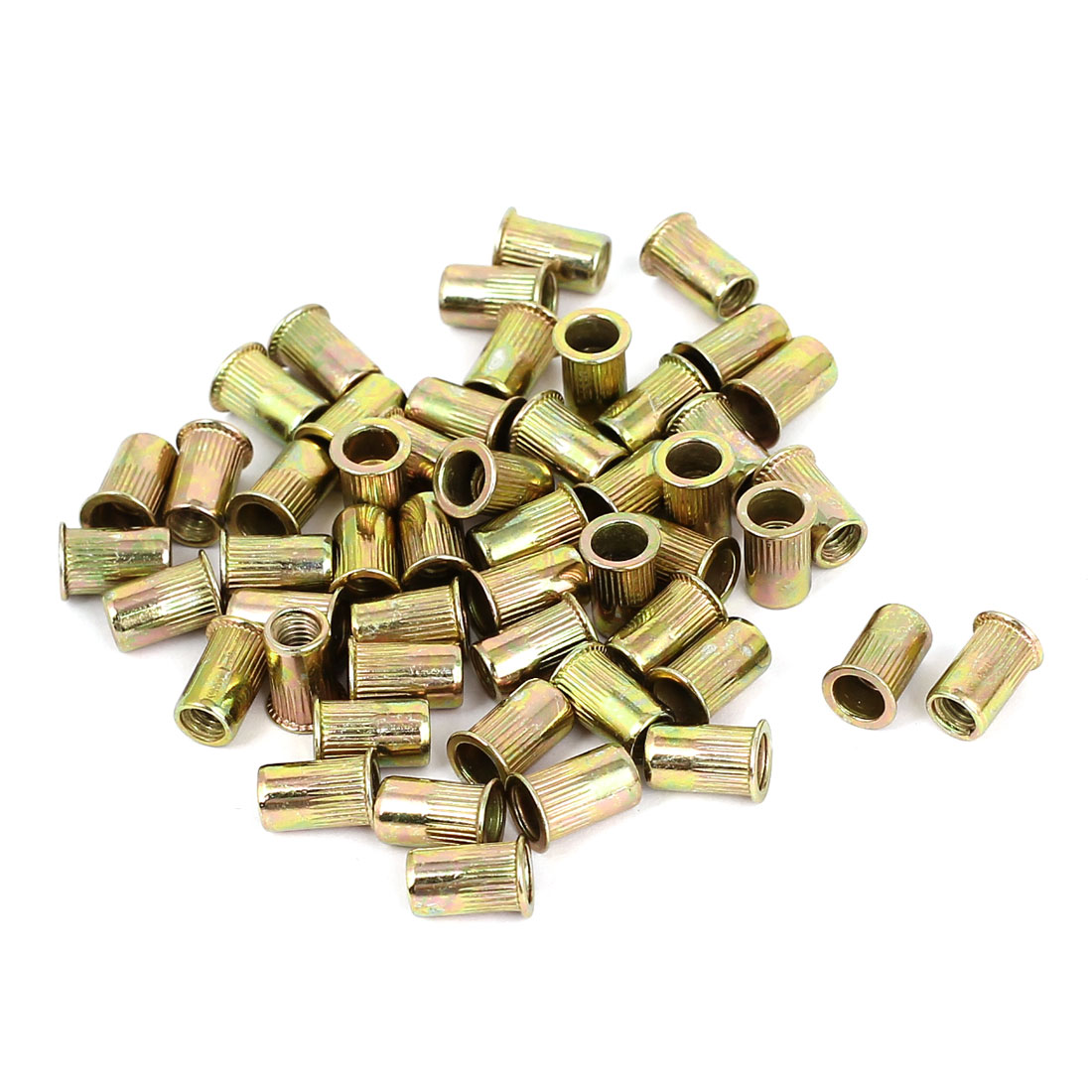50pcs M4 Serrated Body Threaded Blind Rivet Nuts Inserts Nutserts Fasteners
