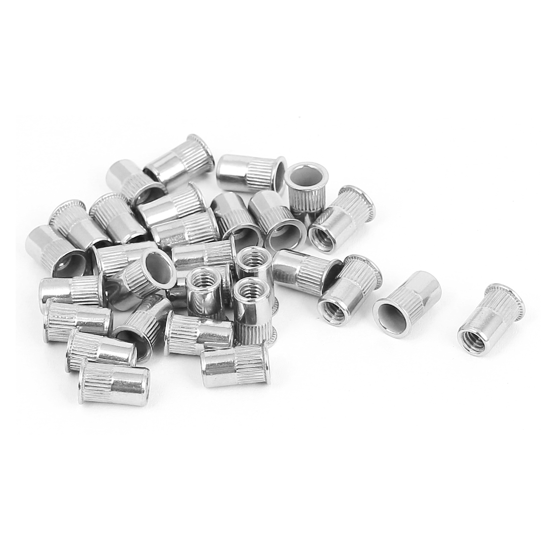 30pcs M4x10mm Stainless Steel Serrated Blind Rivet Nut Insert Nutserts