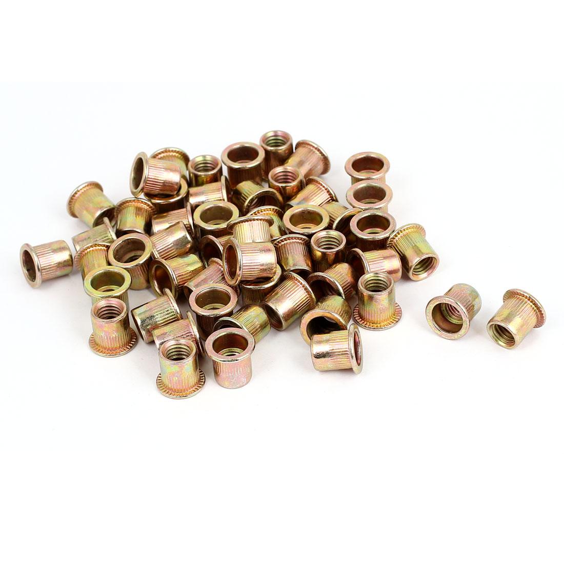 50 Pcs 14mm Flange Carbon Steel Blind Rivet Nut Insert Nutsert M8x12.5mm