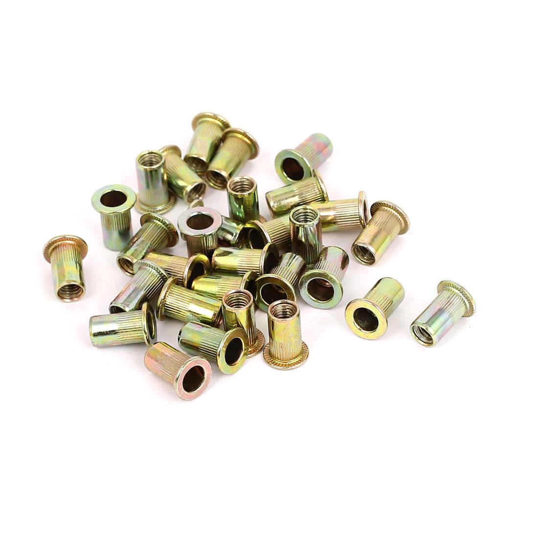 30pcs M5x13mm Serrated Threaded Countersunk Head Rivet Nuts Nutserts