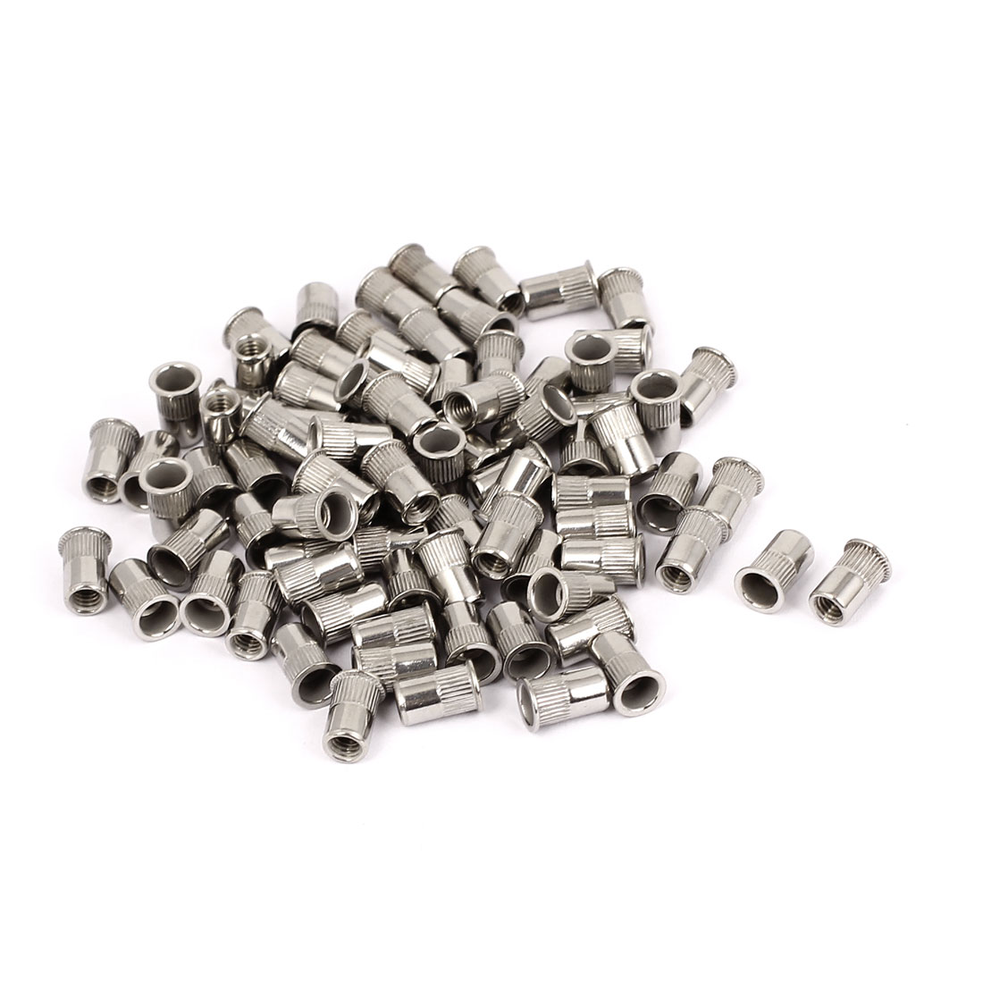 100pcs M4 Stainless Steel Thin Head Threaded Blind Rivet Nuts Nutserts