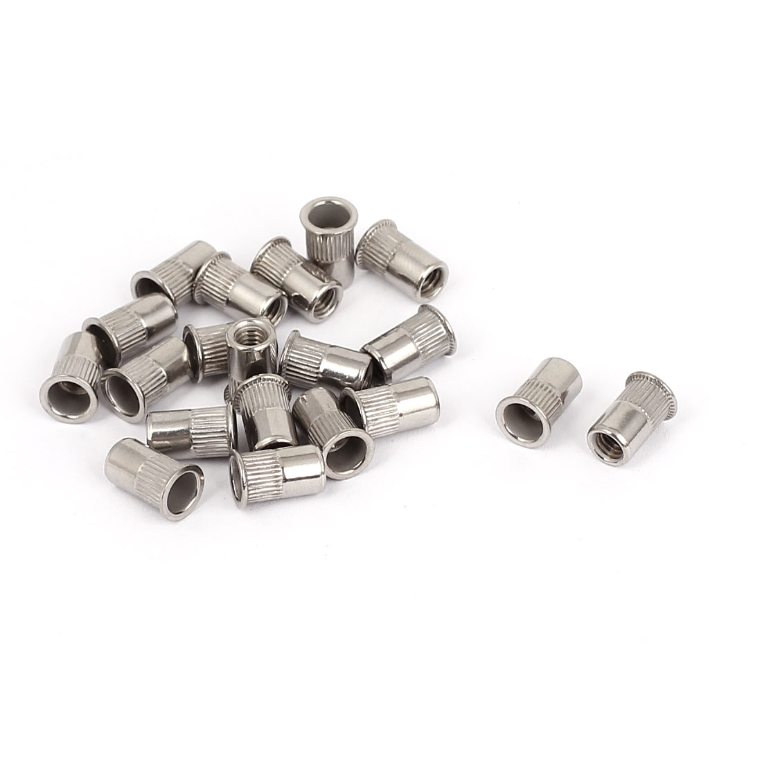 20pcs M4x10mm Stainless Steel Reduced Flat Head Grooved Blind Rivet Nut Nutserts