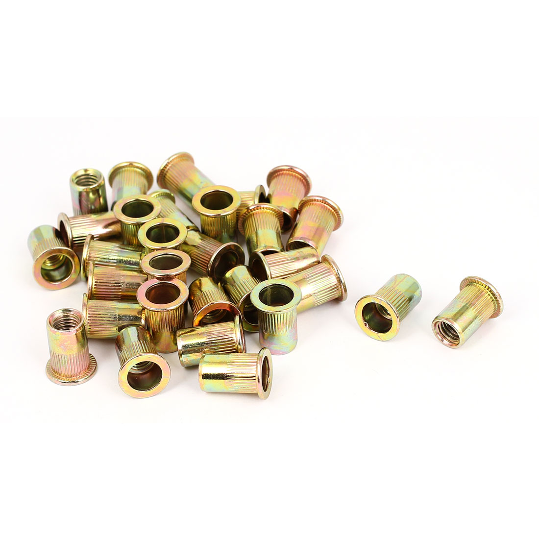 M8x18mm Countersunk Head Ribbed Body Blind Nuts Insert Nutserts 30pcs