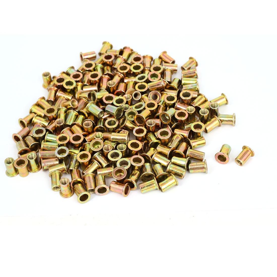 300 Pcs M6x15mm Round Body Countersunk Head Rivet Nut Insert Nutserts
