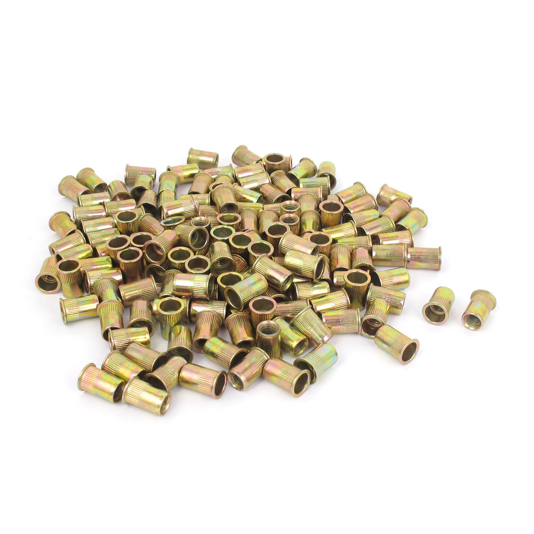 300 Pcs M6x14mm Zinc Plated Rivet Nut Insert Nutsert Blind Nuts Fastener