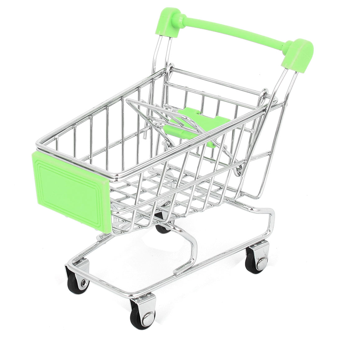 Supermarket Mini Shopping Cart Mode Model Storage Container Green
