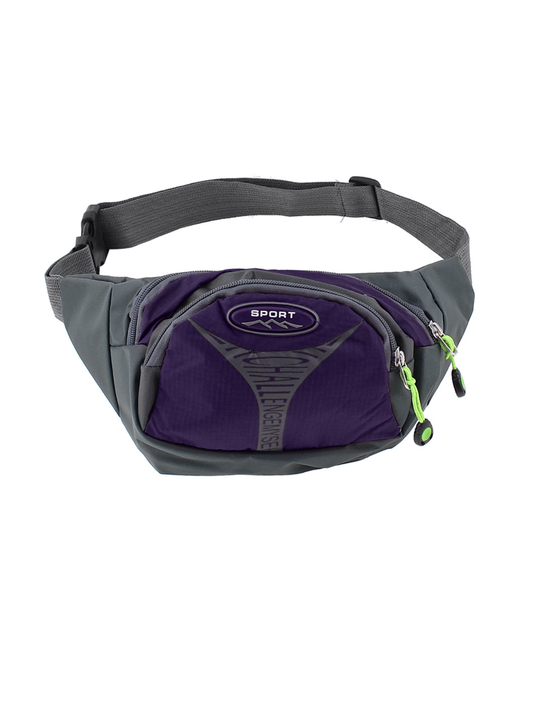 Travel Hiking Jogging Unisex Zipper Closure Belt Waist Bag Pack