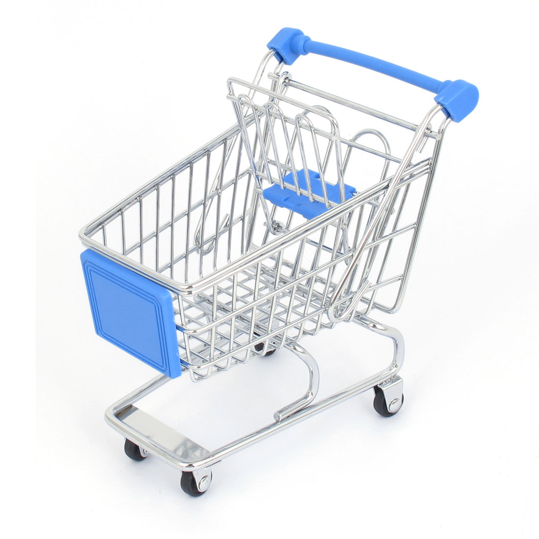 Stainless Steel Supermarket Mini-Shopping Handcart Shopping Utility Cart Mode Blue