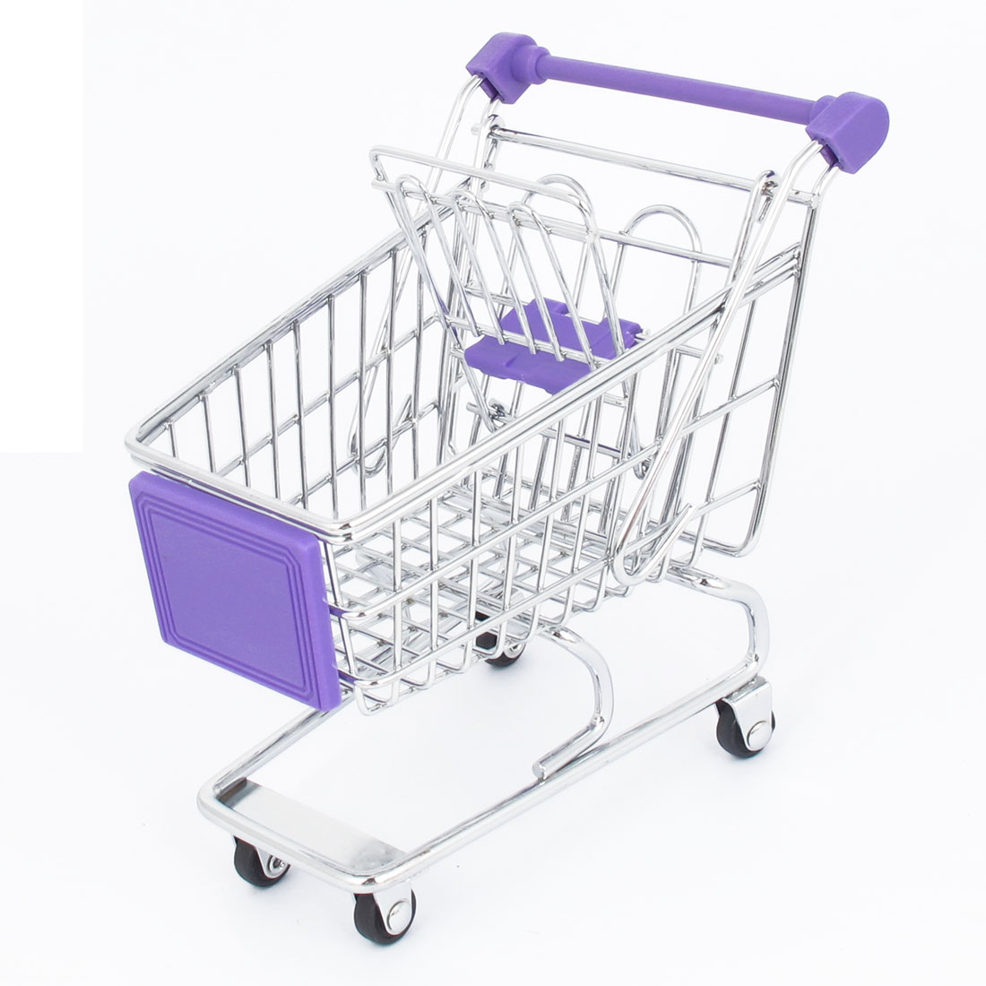 Stainless Steel Supermarket Mini-Shopping Handcart Shopping Utility Cart Mode Purple