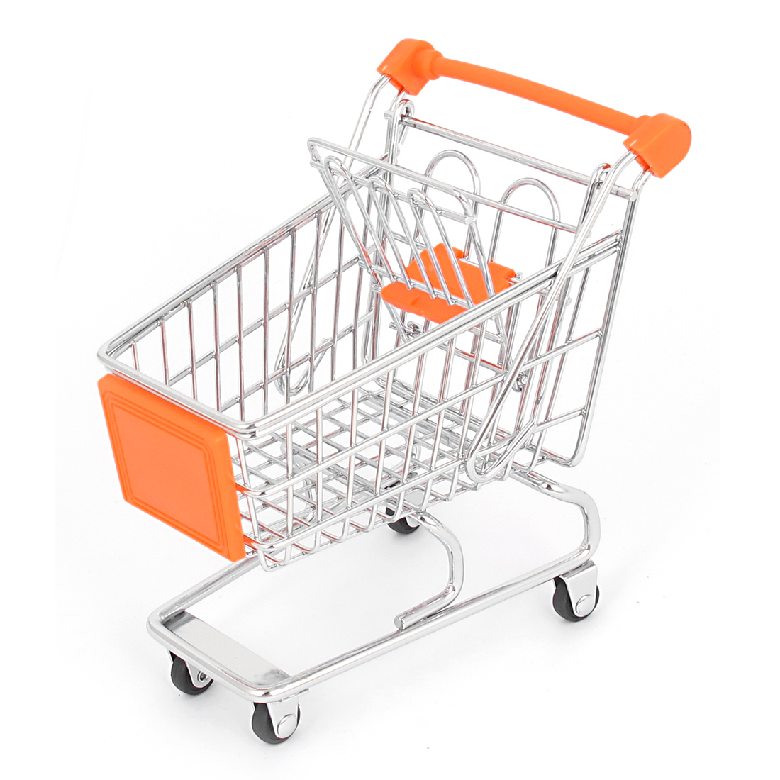 Stainless Steel Supermarket Mini-Shopping Handcart Shopping Utility Cart Mode Orange