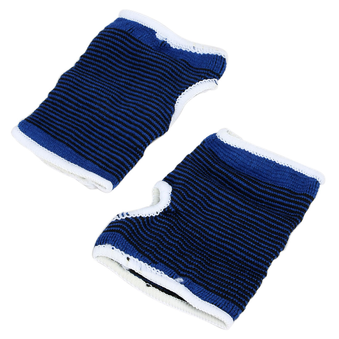 Sports Gym Fitness Mountain Cycling Running Fingerless Gloves Blue XL Pair