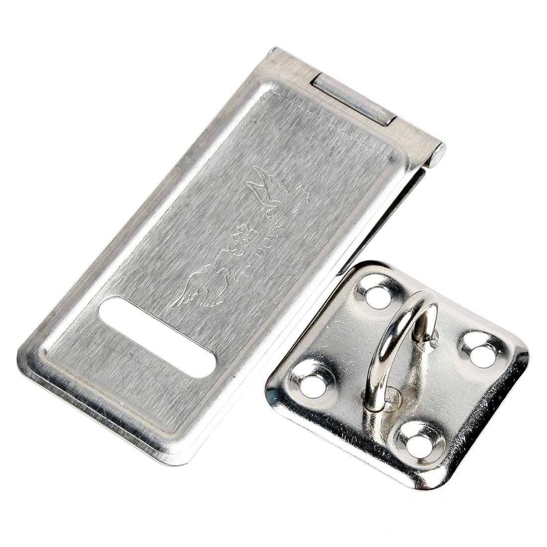 4pcs 70mm x 30mm Stainless Steel Door Lock Striker Latch Catch Bolt Hasp Staple