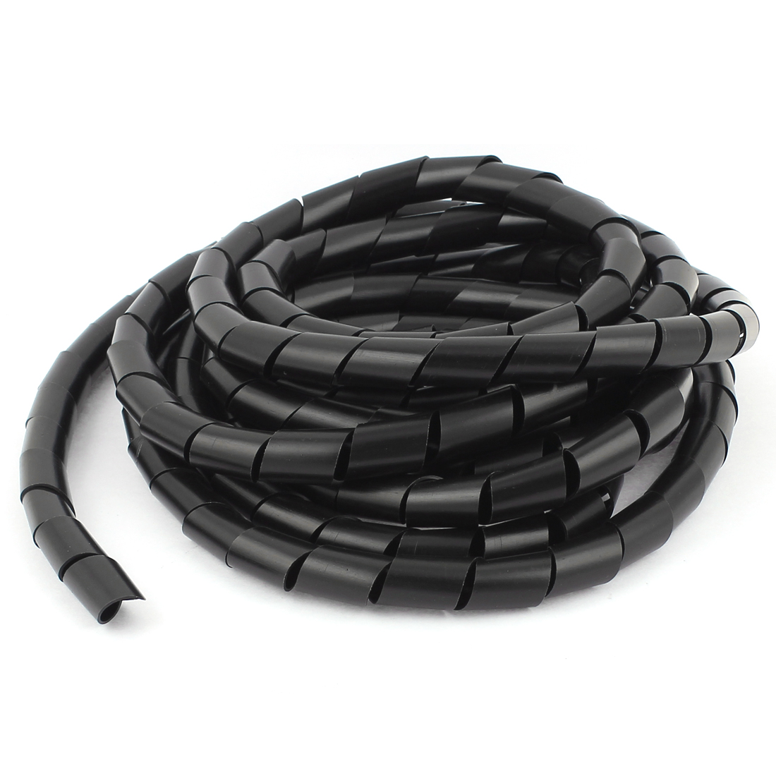 Cable Wire Tidy Wrap PC Home Cinema TV Management Organising 14mm Dia 4.5m Spiral Wire Wrap Black