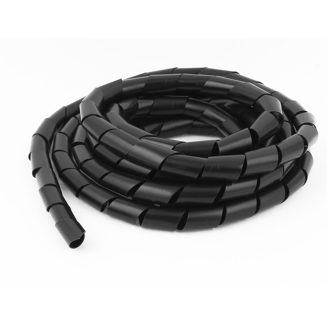16mm Outside Dia 3.8M Polyethylene Spiral Wire Wrap Desktop PC Manage Cable