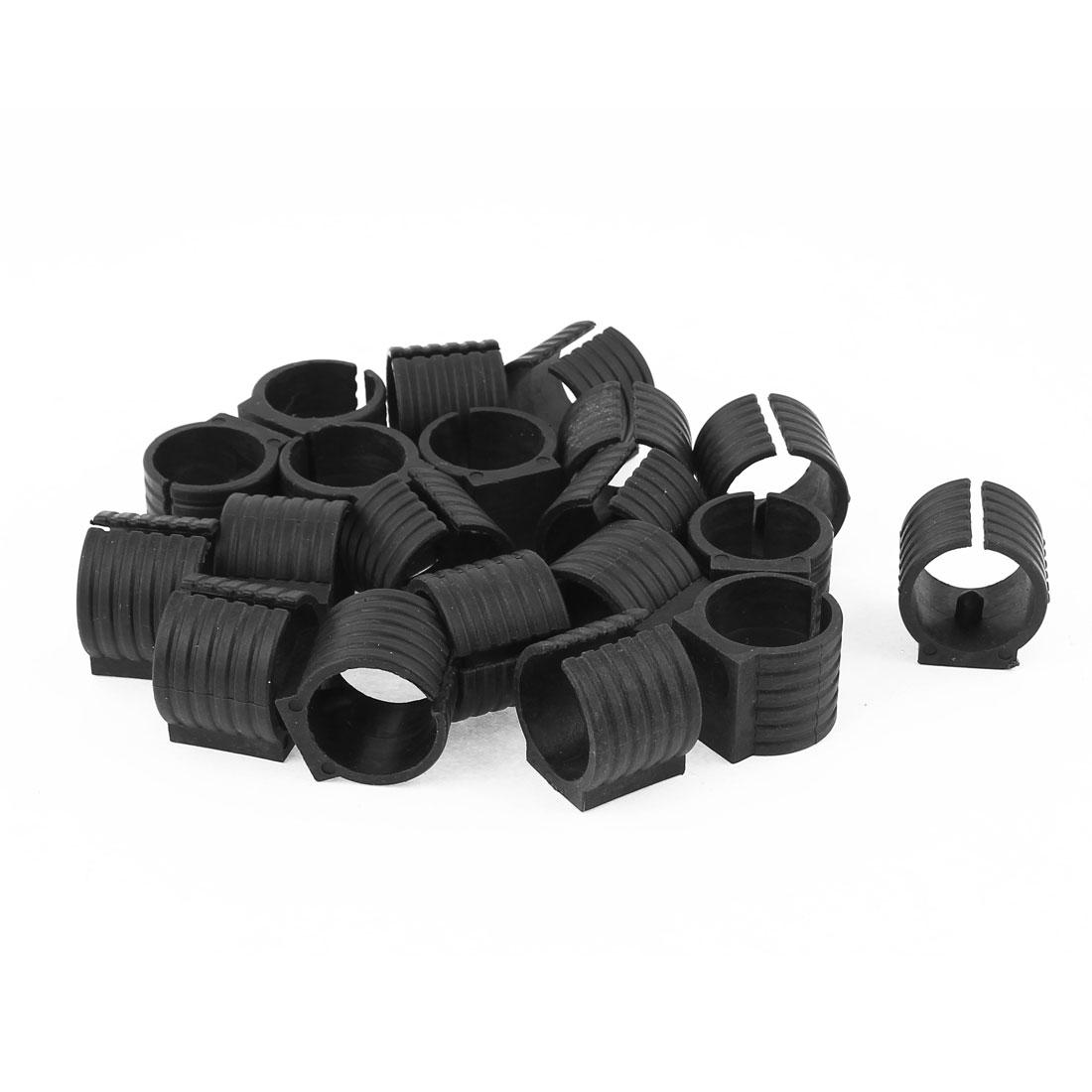 Chair Pipe Clamp Foot Pads Floor Glides U-Shape Caps 20pcs Black