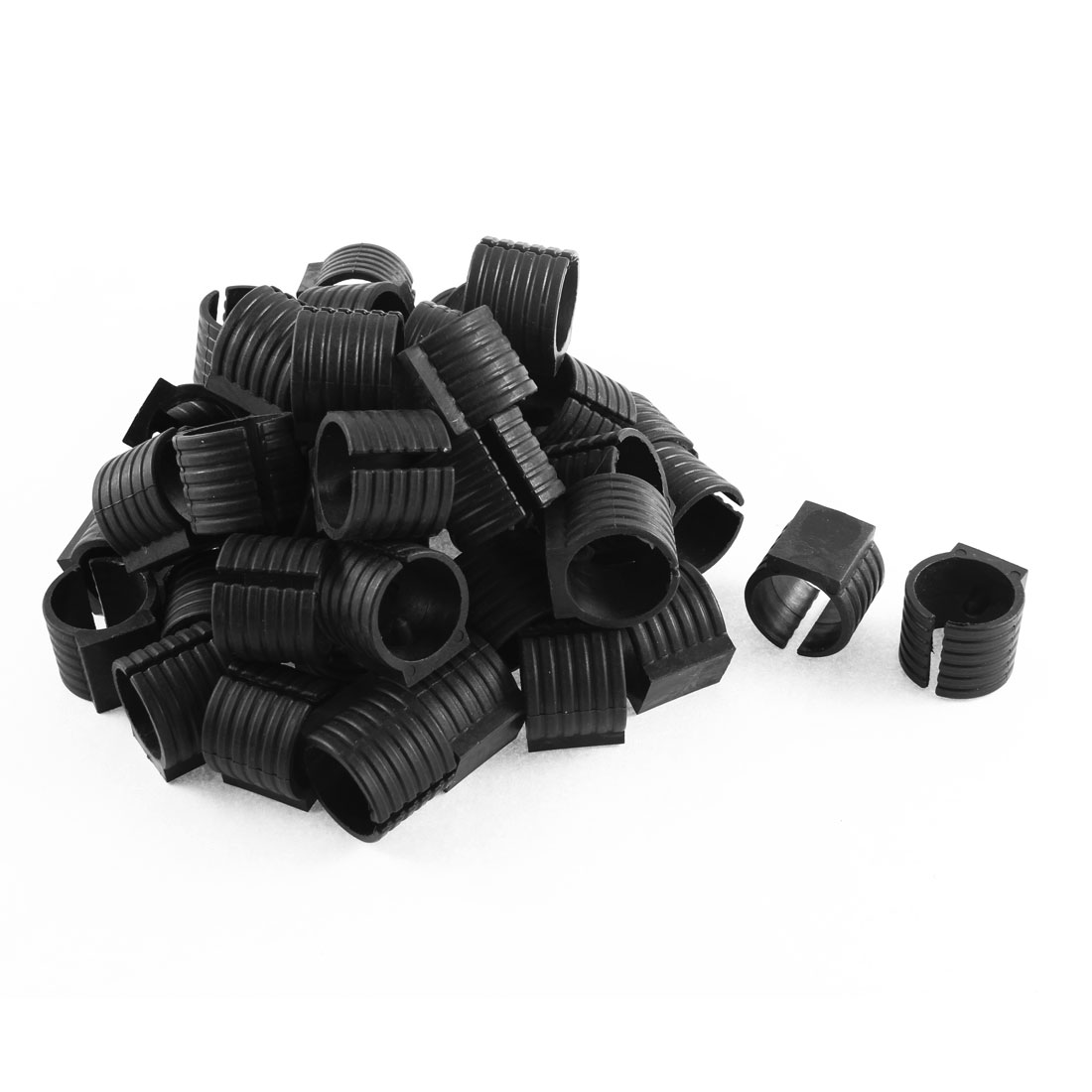 Chair Tubing Foot Floor Glides Single Prong Round U Shaped Plastic Caps 25mm Dia 50 Pcs