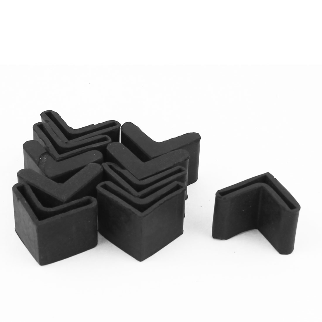 Safety Rubber Furniture Corner Protector Bumper Guard Cushion Black 10pcs