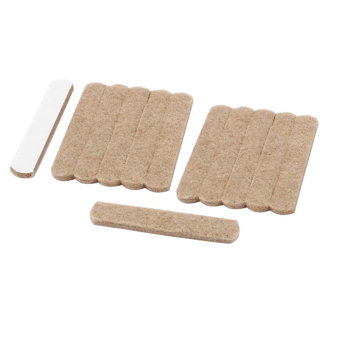 Cabinet Chair Floor Felt Corner Pads Bumper Protector Khaki 12pcs