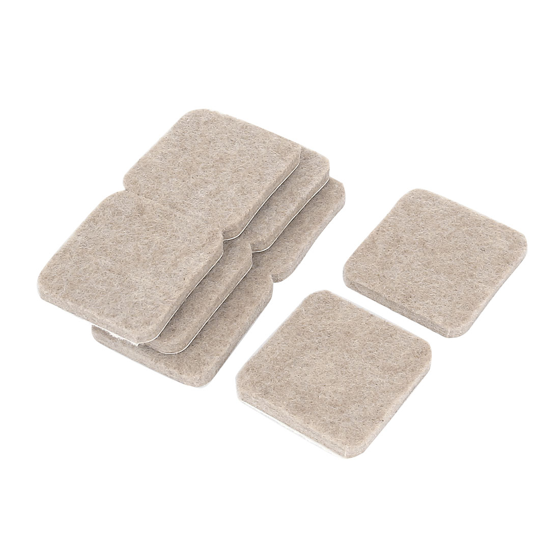 Self Stick Felt Protector Pads Chair Glides Floor Guard Khaki 8pcs