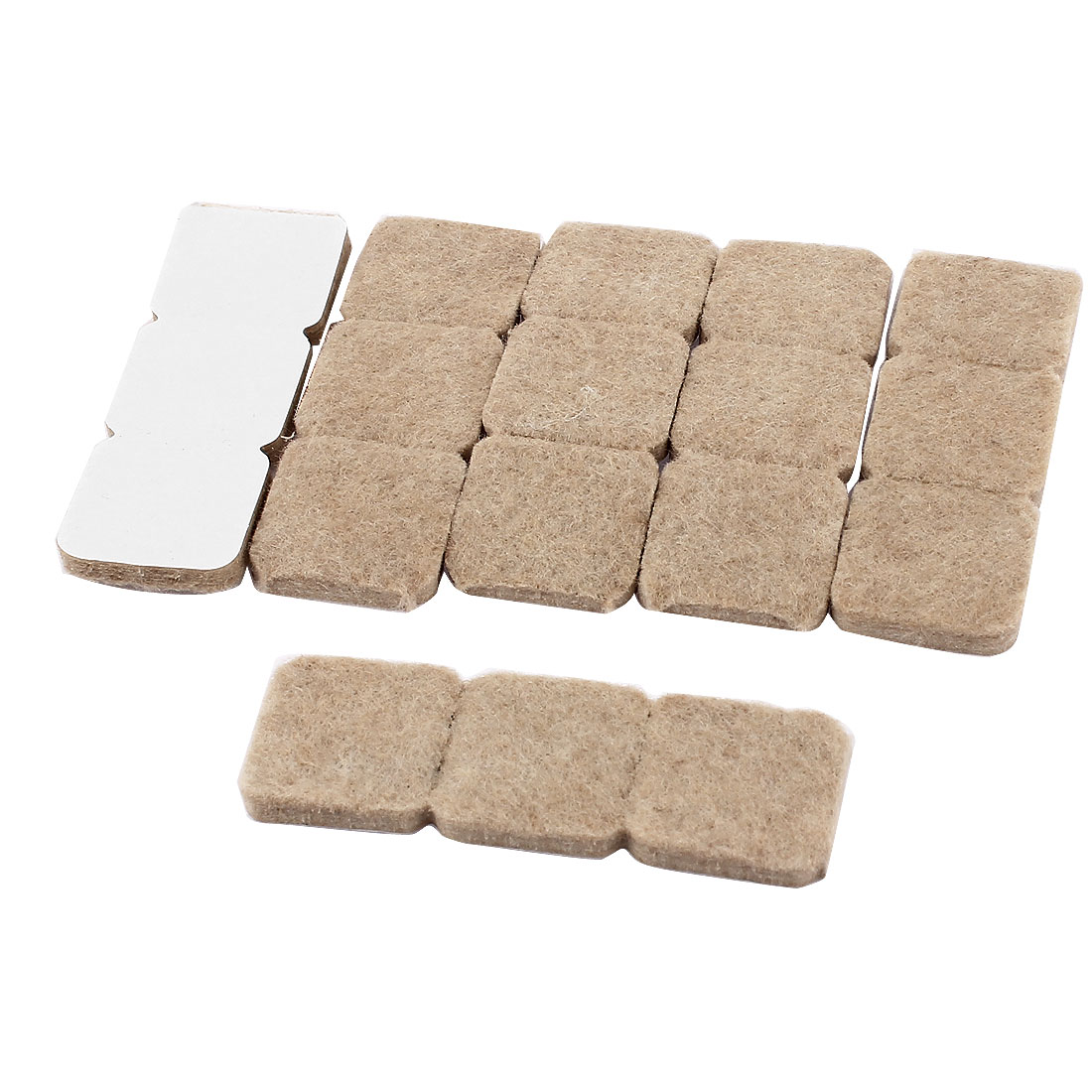 Furniture Chair Table Self Adhesive Scratch Felt Protector Pads Khaki 18pcs