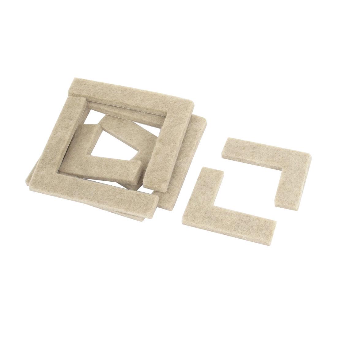 Home Kitchen Furniture Adhesive Stick Felt Corner Pads Khaki 8pcs