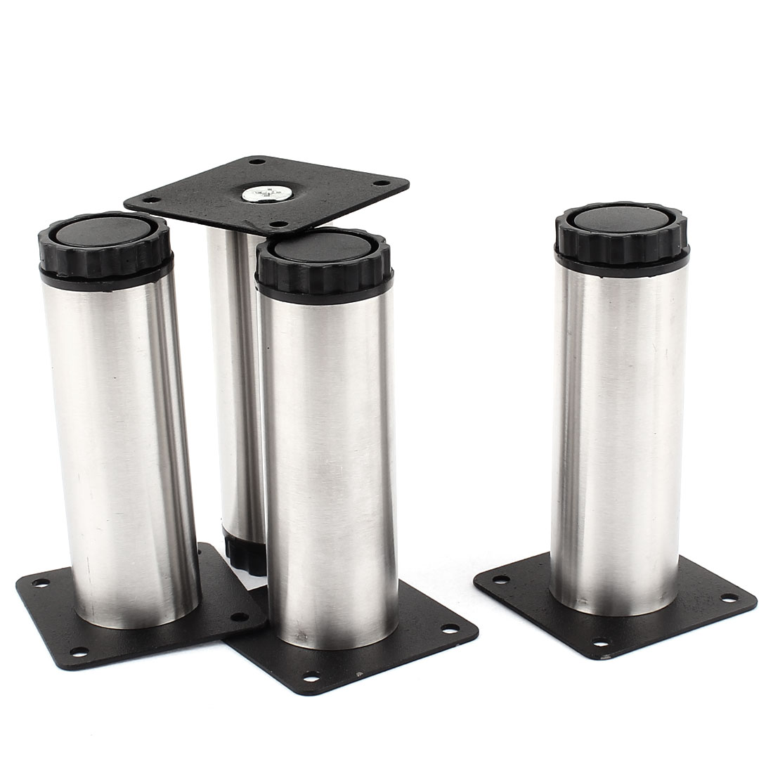 Kitchen Cupboard Cylinder Adjustable Cabinet Legs Plinth 4pcs