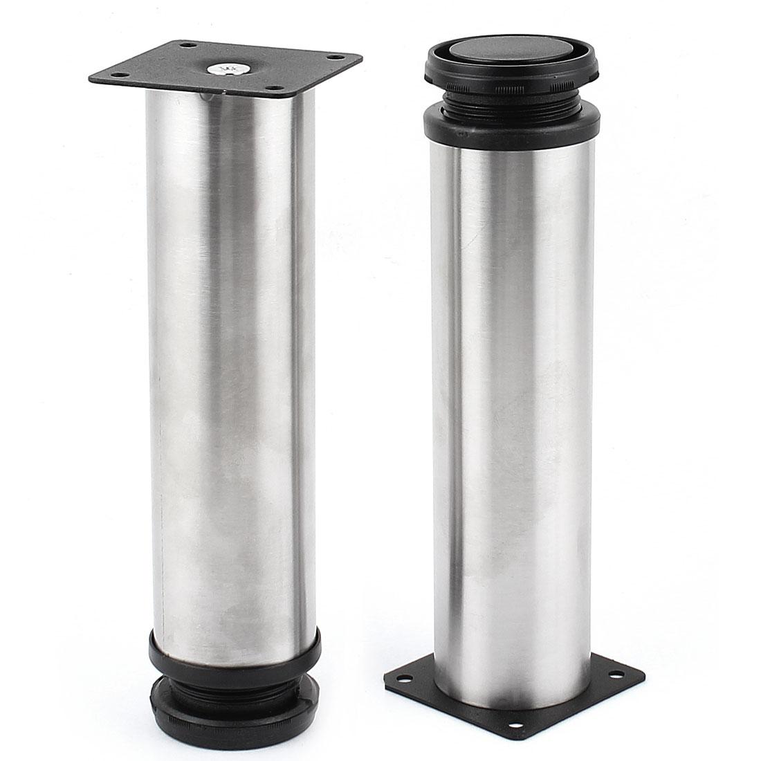 Stainless Steel Kitchen Sofa Table Round Adjustable Cabinet Leg 2pcs