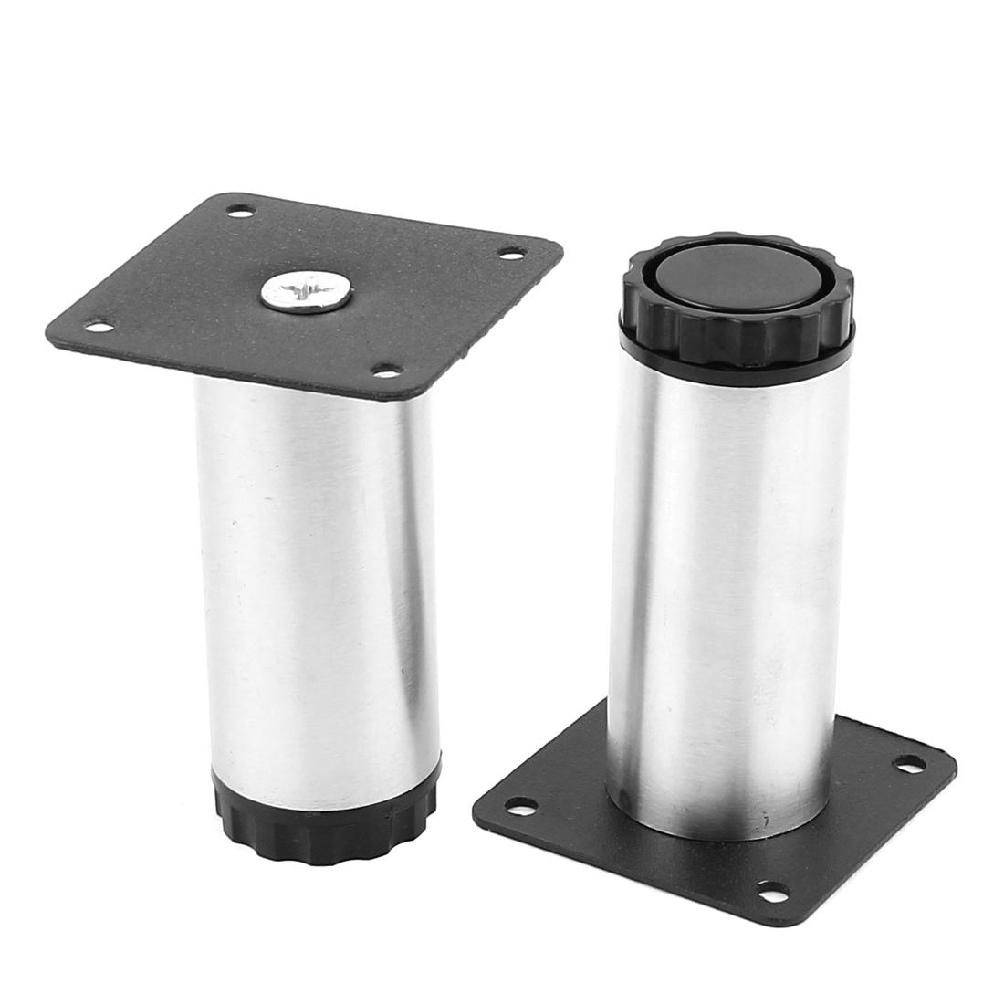 Kitchen Cabinet Furniture 100mm Cylinder Adjustable Leg Plinth 2pcs