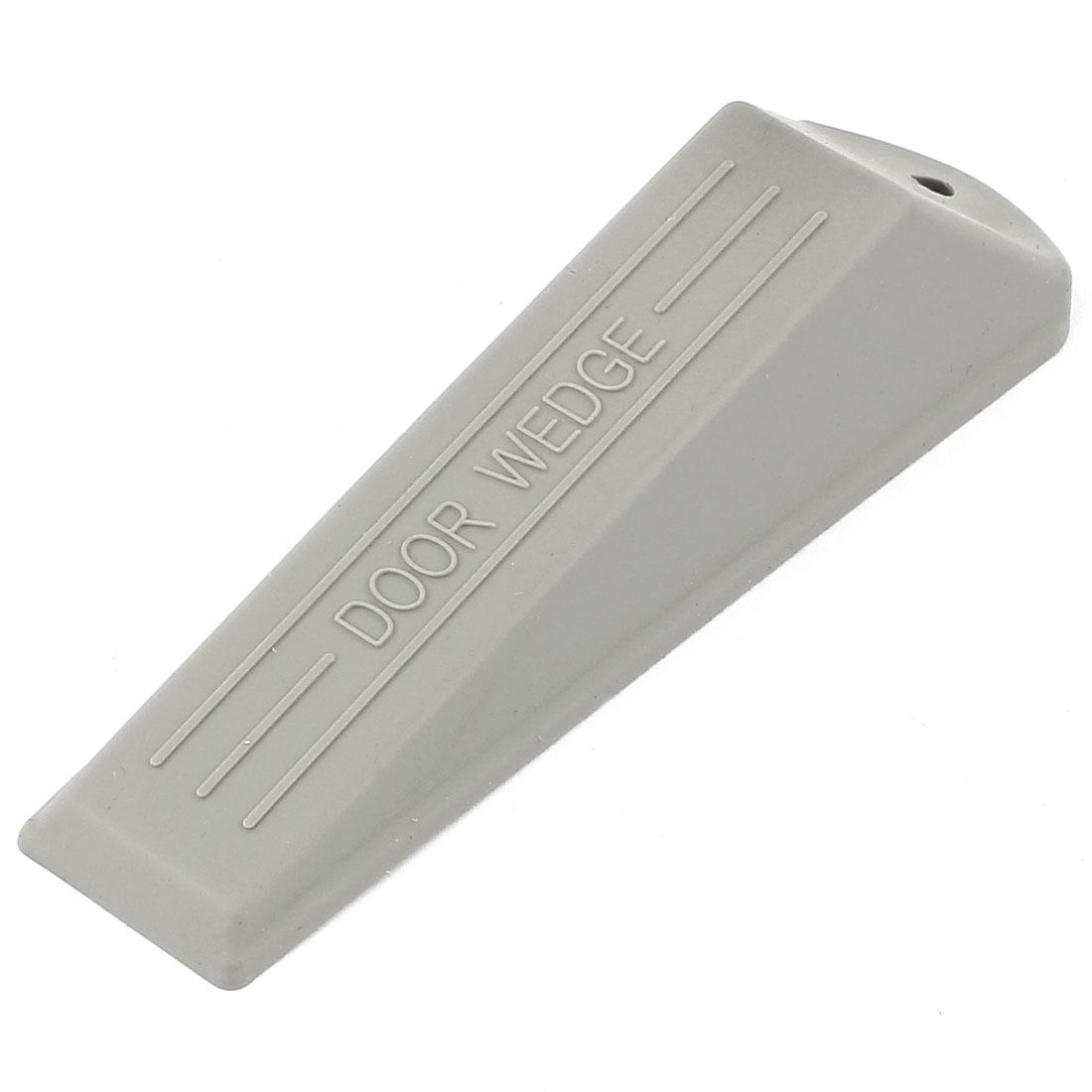 Home Office Safety Rubber Door Stop Stopper Doorstop Wedge Block Gray