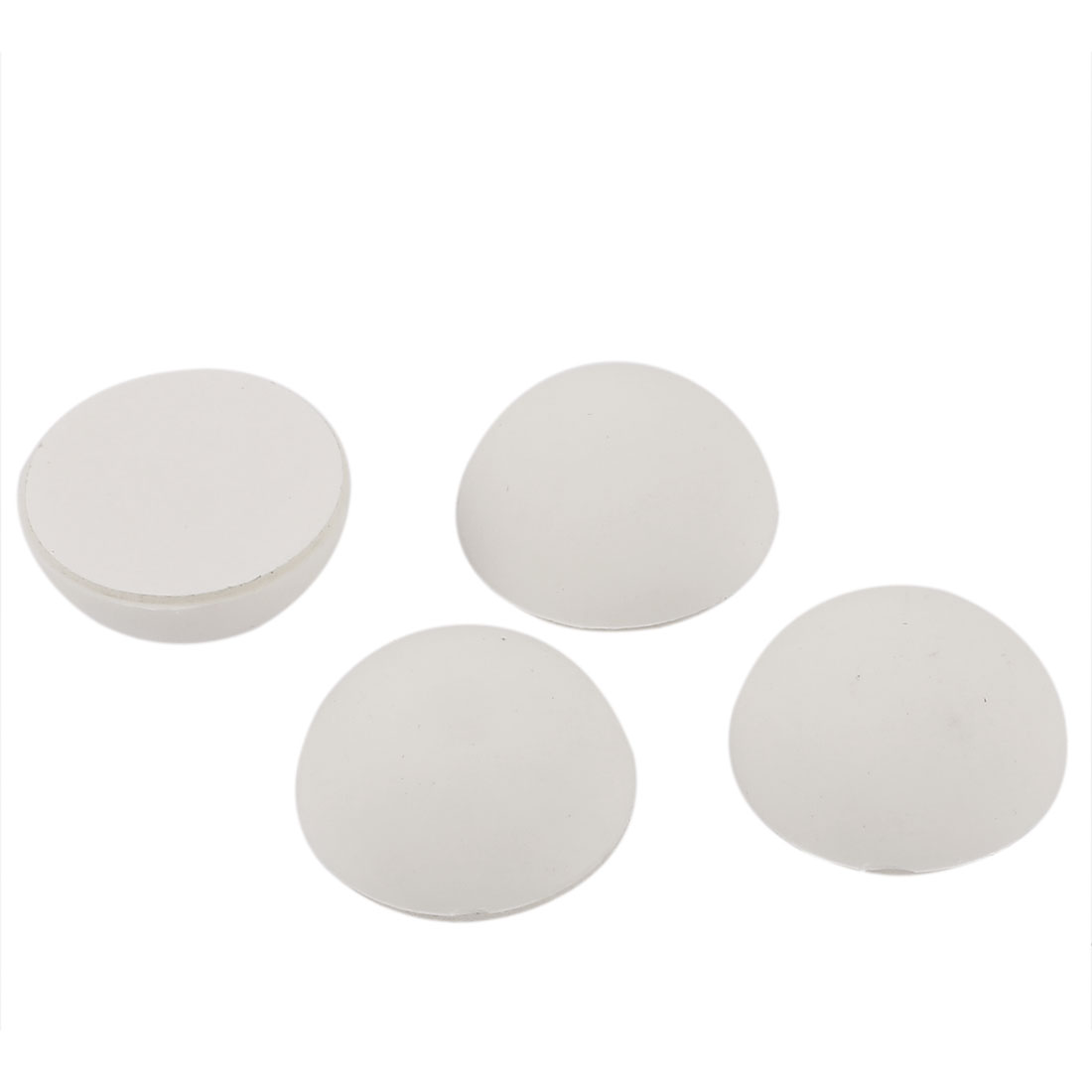Rubber Wall Guard Doorstop Protectors Bumper Stopper Stop 4pcs White