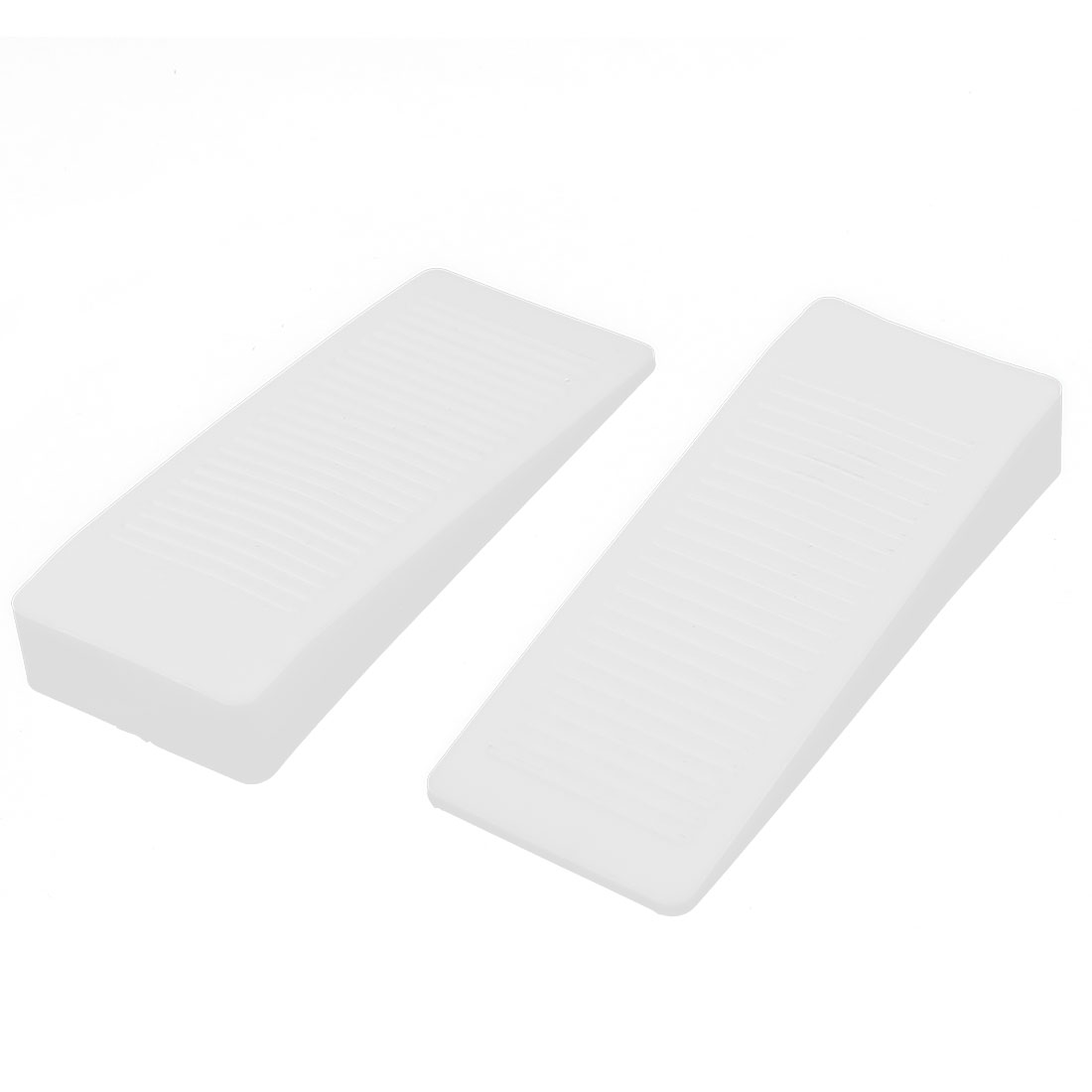 Home Office Rubber Door Stop Stoppers Jam Block Wedges Clear 2pcs