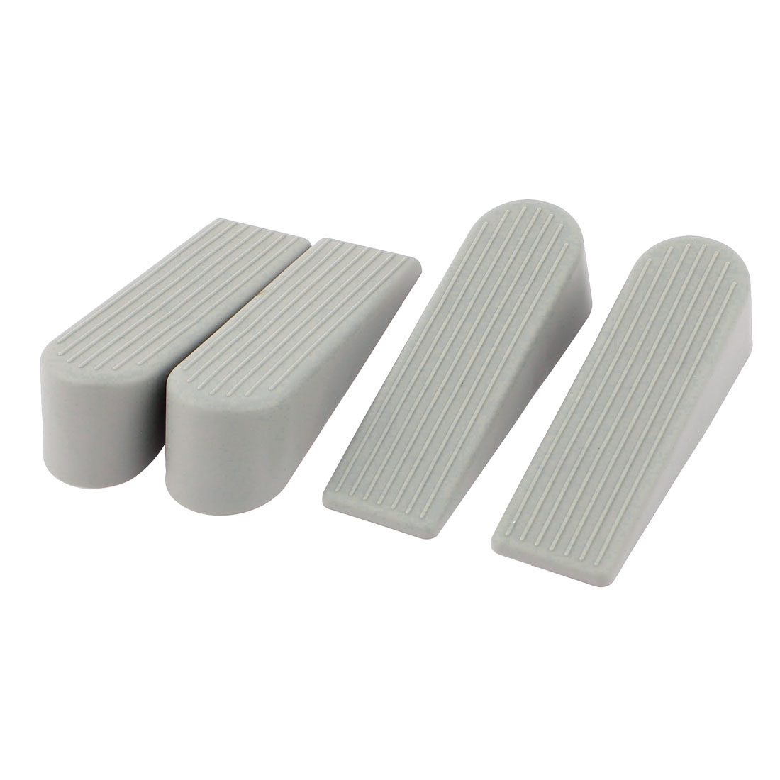 Non Slip Rubber Door Stoppers Stop Doorstop Wedges Jam Block Gray 4pcs
