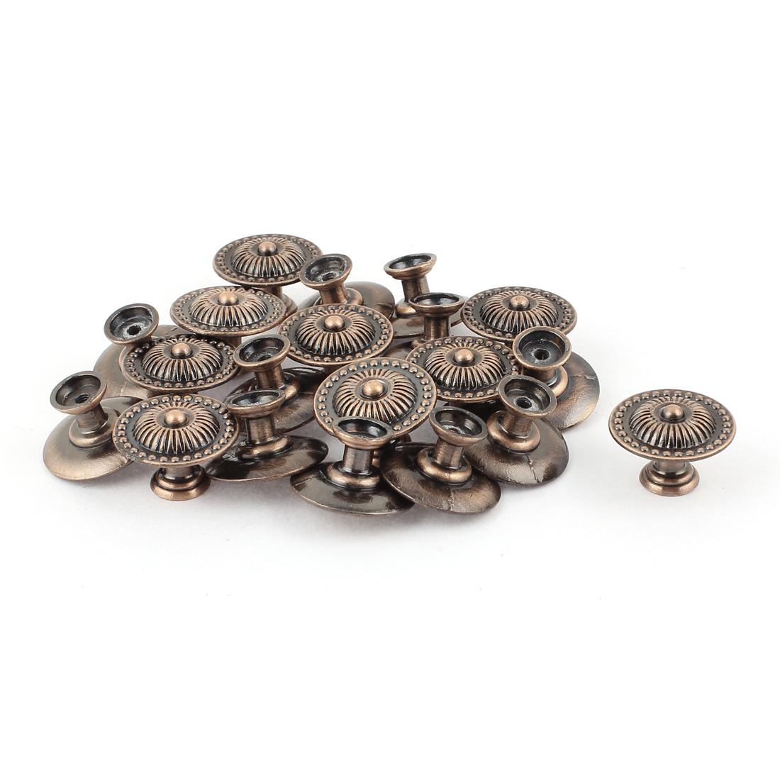 Door Drawer Dresser Cupboard Metal Round Pull Knobs Handle Hardware 20pcs